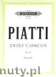 Ok�adka: Piatti Alfredo, 12 Caprices Op. 25 for Violoncello