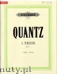 Okładka: Quantz Johann Joachim, 3 Trios for 3 Flutes, QV3: 30-32