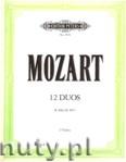 Ok�adka: Mozart Wolfgang Amadeusz, 12 Duos