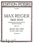 Okładka: Reger Max, 3 Duets Op.131b: No.1 in E minor