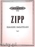 Ok�adka: Zipp Friedrich, Elmauer Bagatellen f�r Fagott