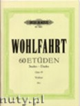 Okładka: Wohlfahrt Franz, 60 Studies, Op. 45