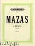 Okładka: Mazas Jacques-Féréol, 6 Duos Op.46 for 2 Violines