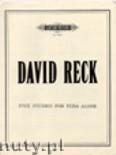Okładka: Reck David, 5 Studies for Solo Tuba