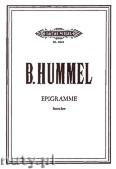 Okładka: Hummel Bertold, Epigramme (Str)