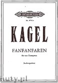 Okładka: Kagel Mauricio, Fanfanfaren for four Trumpets