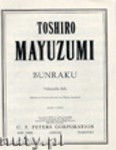 Ok�adka: Mayuzumi Toshiro, Bunraku for Cello