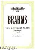Ok�adka: Brahms Johannes, 3 Sacred Choruses Op.37 (SSAA)