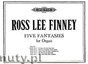 Okładka: Finney Ross Lee, Five Fantasies for Organ - Fantasia No. 1