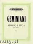 Ok�adka: Geminiani Francesco Saverio, Adagio and Fugue in Es-dur for Viola