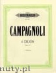 Okładka: Campagnoli Bartolomeo, 6 Progressive Duets Op. 14 for 2 Violines