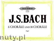 Okładka: Bach Johann Sebastian, Sechs Choräle und achtzehn Choräle, Band 2
