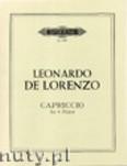 Okładka: De Lorenzo Leonardo, Capriccio Op. 82 No. 3 for 4 Flutes