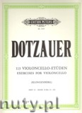 Okładka: Dotzauer Justus Johann Friedrich, 113 Violoncello Exercises, Vol.2 (35 - 62)