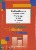 Okładka: Komischke Uwe, Einblasübungen / Warm-ups - Horn