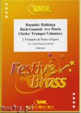 Ok�adka: Michel Jean-Fran�ois, Utwory na 2 tr�bki i fortepian (BACH/GOUNOD: Ave Maria, CLARKE: Trumpet Voluntary, H�NDEL: Halleluja)