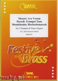 Okładka: Michel Jean-François, Utwory na 2 trąbki i fortepian (MENDELSSOHN: Hochzeitsmarsch, MOZART: Ave Verum, PURCELL: Trumpet Tune)