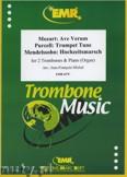 Okładka: Michel Jean-François, Utwory na 2 puzony i fortepian (MENDELSSOHN: Hochzeitsmarsch, MOZART: Ave Verum, PURCELL: Trumpet Tune) - Trombone