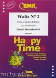 Ok�adka: Szostakowicz Dymitr, Waltz N� 2 for Flute, Clarinet and Piano