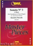 Ok�adka: Marcello Benedetto, Sonata N� 3 in A minor - Saxophone