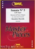 Ok�adka: Marcello Benedetto, Sonata N� 5 in Bb major - BASSOON