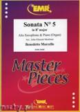 Okładka: Marcello Benedetto, Sonata N° 5 in Bb major - Saxophone
