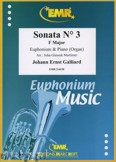 Okładka: Galliard Johann Ernst, Sonata N° 3 in F major - Euphonium