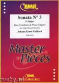 Ok�adka: Galliard Johann Ernst, Sonata N� 3 in F major - Trombone