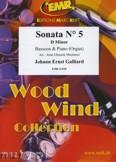Ok�adka: Galliard Johann Ernst, Sonata N� 5 in D minor - BASSOON
