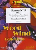 Ok�adka: Galliard Johann Ernst, Sonata N� 5 in D minor - Saxophone