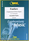 Okładka: Clarke Jeremiah, Fanfare for 4 Euphoniums and Piano (Organ)