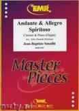 Ok�adka: Senaille Jean-Baptiste, Andante & Allegro Spiritoso - CLARINET