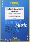 Ok�adka: Senaille Jean-Baptiste, Andante & Allegro Spiritoso - Trumpet