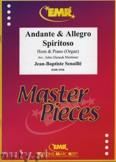 Ok�adka: Senaille Jean-Baptiste, Andante & Allegro Spiritoso - Horn