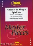 Ok�adka: Senaille Jean-Baptiste, Andante & Allegro Spiritoso - Flute