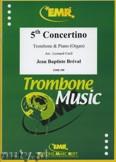 Ok�adka: Breval Jean Baptiste, 5th Concertino  - Trombone
