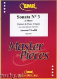 Ok�adka: Vivaldi Antonio, Sonata N� 3 in A minor - CLARINET