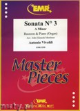 Ok�adka: Vivaldi Antonio, Sonata N� 3 in A minor - BASSOON