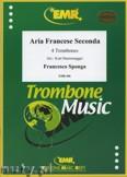 Ok�adka: Sponga Francesco, Aria Francese Seconda  - Trombone