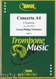 Okładka: Telemann Georg Philipp, Concerto a 4 - Trombone