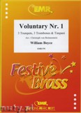 Okładka: Boyce William, Voluntary No. 1 for 3 Trumpets, 3 Trombones and Timpani