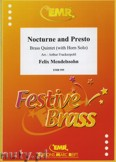 Okładka: Mendelssohn-Bartholdy Feliks, Nocturne and Presto  - BRASS ENSAMBLE