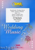 Ok�adka: , Utwory na 2 klarnety i fortepian (BACH: Aria, CLARKE: Trumpet Voluntary, MENDELSSOHN: Wedding March, PURCELL: Trumpet Tune, WAGNER: Bridal Chorus) - CLARINET