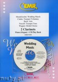 Ok�adka: , Utwory na 2 klarnety i CD (BACH: Aria, CLARKE: Trumpet Voluntary, MENDELSSOHN: Wedding March, PURCELL: Trumpet Tune, WAGNER: Bridal Chorus) - CLARINET