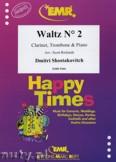 Ok�adka: Szostakowicz Dymitr, Waltz N� 2 for Clarinet, Trombone and Piano