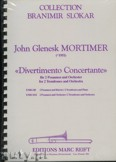 Okładka: Mortimer John Glenesk, Divertimento Concertante for 2 Trombones and Orchestra