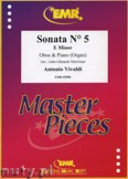 Ok�adka: Vivaldi Antonio, Sonata N� 5 in E minor - Oboe