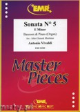 Ok�adka: Vivaldi Antonio, Sonata N� 5 in E minor - BASSOON