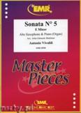 Okładka: Vivaldi Antonio, Sonata N° 5 in E minor - Saxophone