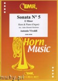 Ok�adka: Vivaldi Antonio, Sonata N� 5 in E minor - Horn